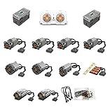 PEXL Power Funktions Set für Technik Autos, 17 Teile Kompatibel mit Lego Technic