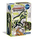 Clementoni 59174 Galileo Science – Ausgrabungs-Set Velociraptor, Spielzeug für Kinder ab 7 Jahren, Ausgraben von Dinosaurier-Fossilien mit Hammer & Meißel, für kleine Forscher