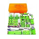 Pevfeciy Elektrotechnik Set für Kinder,Physik Elektrische Schaltung Lernkit, Elektro experimentierkasten für Kinder,Junior Senior High School Studenten Elektromagnetismus Exploration,Orange,One Size