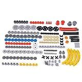 HZYM Technik Ersatzteile Set, Technik Teile Getriebe Ausrüstung Technik Steine Technik Klemmbausteine Technik Verbinder Kompatibel mit Lego Technic